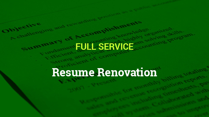 Resume Renovation Full Service